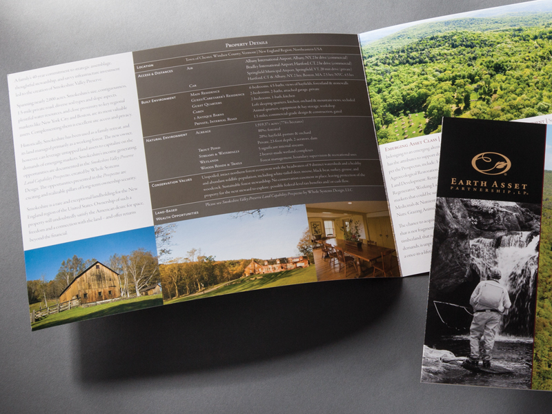 Earth Asset Partnership | Smokeshire Valley Preserve Brochure Design