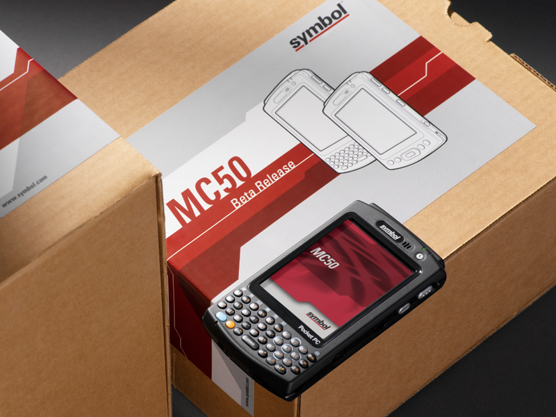 Symbol Technologies | MC50 QWERTY Product Screen & Packaging