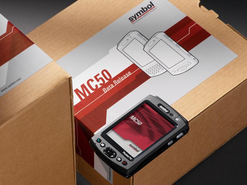 Symbol Technologies | MC50 NAV Product Screen & Packaging