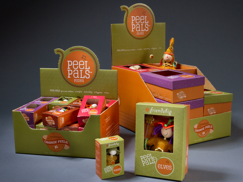 Hope for Women | Peel Pals Elves and Pixies Display Case and Product Box Design