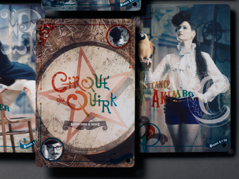 Packert Photography | Cirque du Quirk Postcard Designs