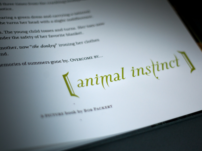 Packert Photography | 'Animal Instincts' Book Design Detail