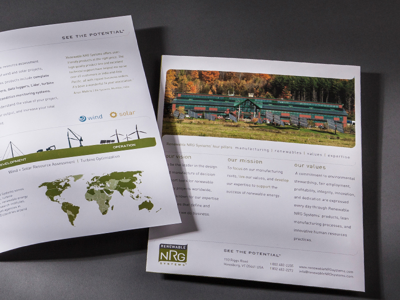 Renewable NRG Systems | Corporate Brochure