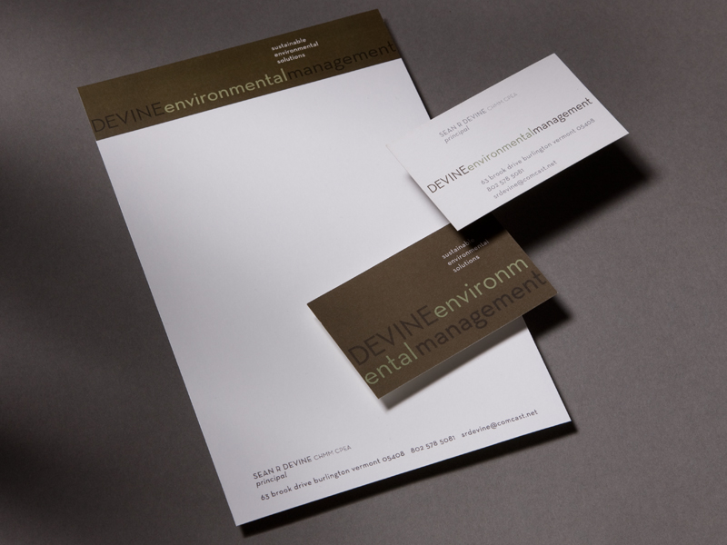 Devine Environmental Management | Stationery Design