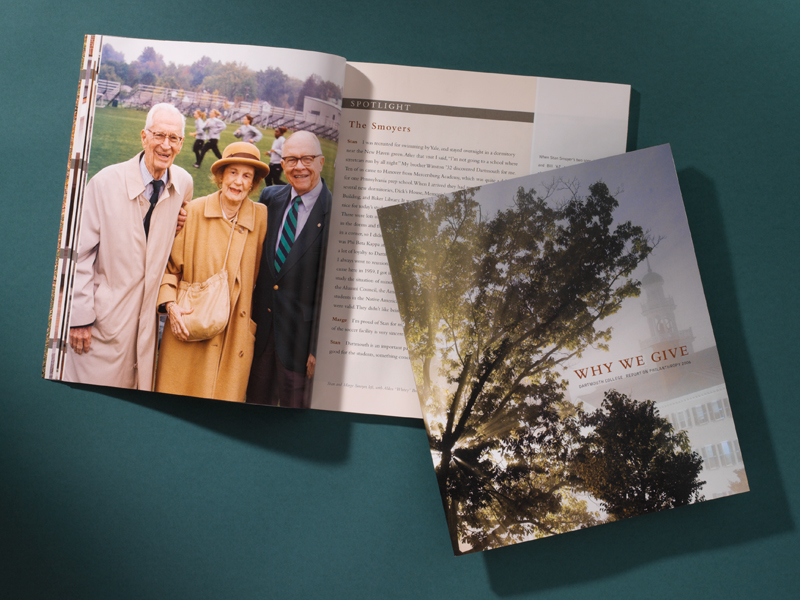 Dartmouth College | Report on Philanthropy Publication Design