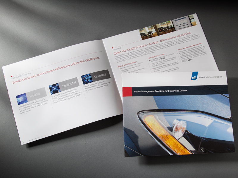 Dealertrack Technologies | Dealer Management Solutions for Franchised Dealers Brochure Design