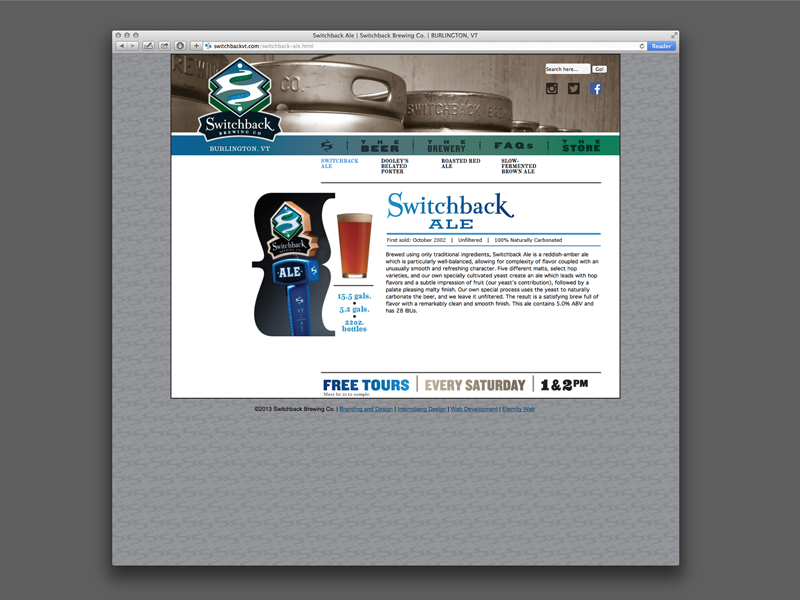 Switchback Brewing Co. | Website Design