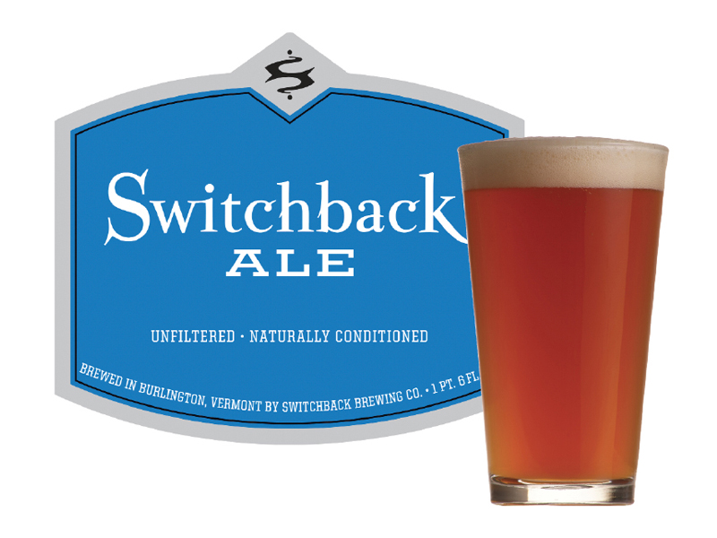 Switchback Brewing Co. | Switchback Ale Bottle Label Design & Pint