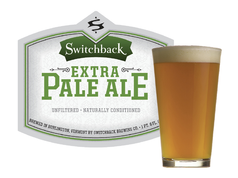 Switchback Brewing Co. | Extra Pale Ale Bottle Label Design & Pint