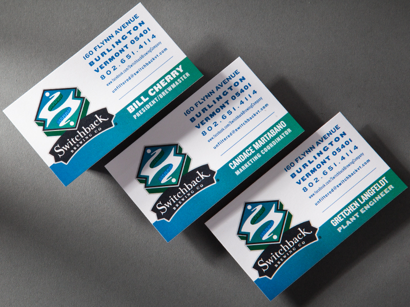 Switchback Brewing Co. | Business Card Design