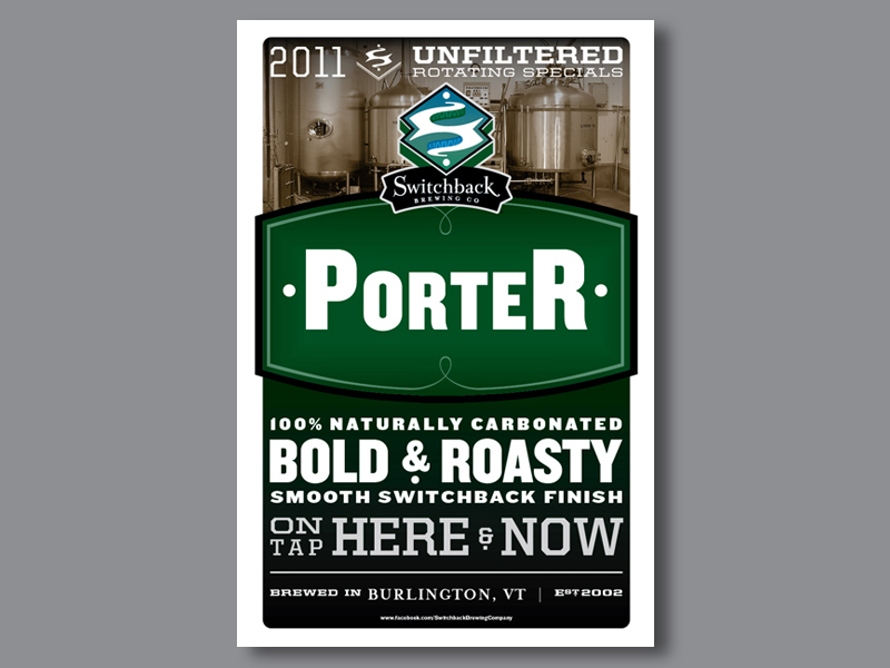 Switchback Brewing Co. | Dooley's Belated Porter Poster Design