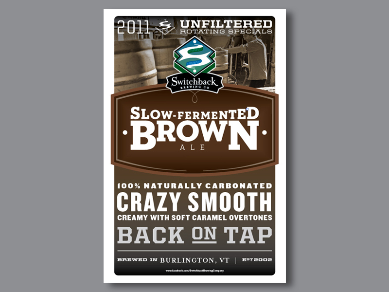 Switchback Brewing Co. | Slow-Fermented Brown Ale Poster Design