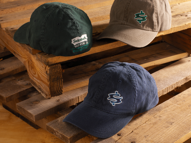 Switchback Brewing Co. | Embroidered 'Dot S' Hat Designs