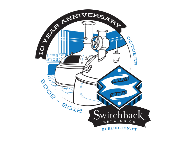 Switchback Brewing Co. | 10 Year Anniversary Logo Design