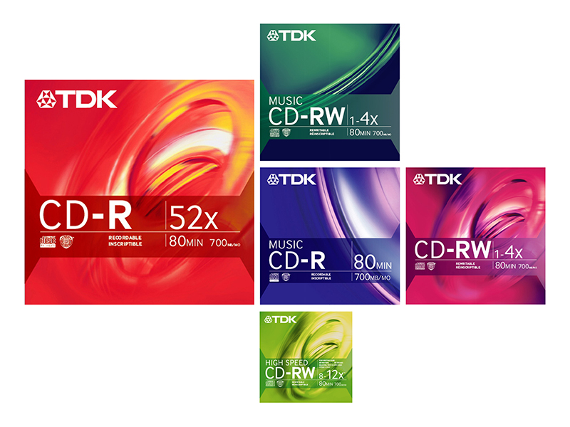 TDK Electronics Corp. | Recordable CD Retail Packaging Family