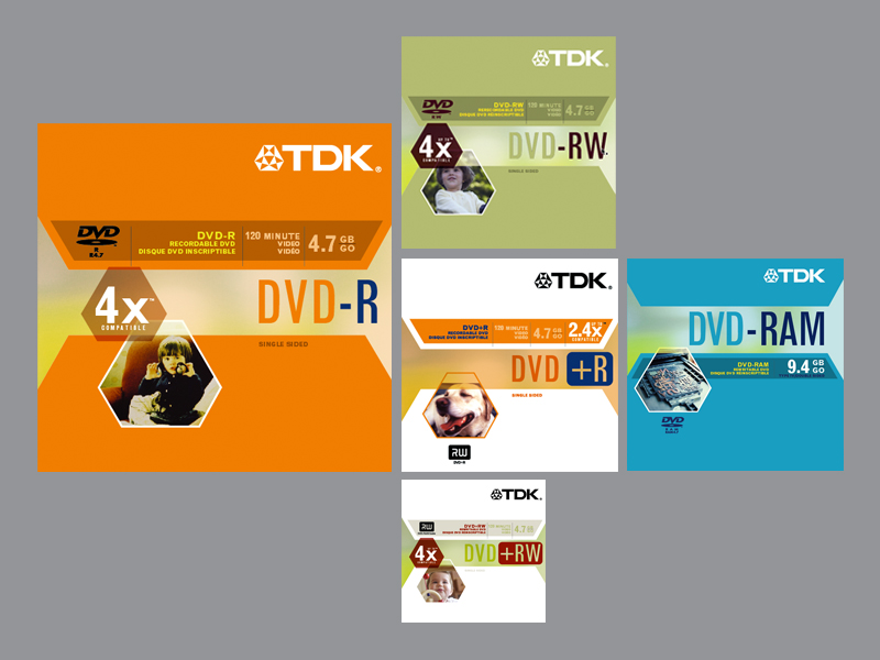 TDK Electronics Corp. | Recordable DVD Retail Packaging Family