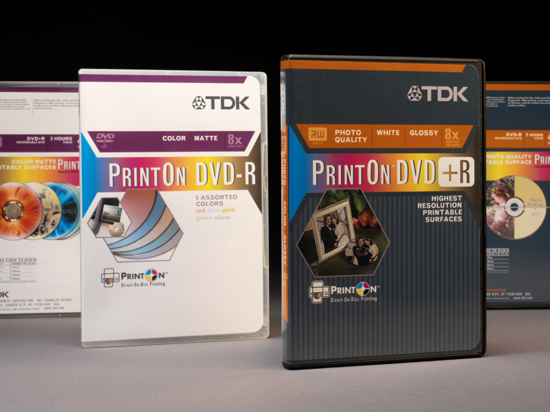 TDK Electronics Corp. | Recordable Printable DVD Retail Packaging