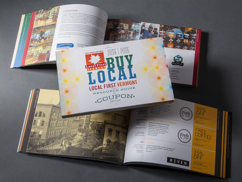VBSR | 2014-2015 Buy Local Coupon Book Design