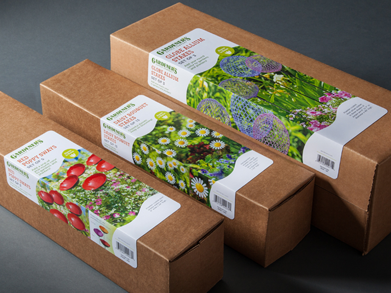 Gardener's Supply Company | Poppy Sways & Globe Allium Stakes Retail Packaging