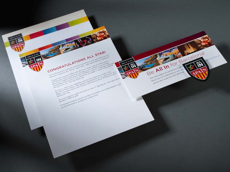 Madison Performance Group | 2011 Barcelona Summit All Star Stationery Design