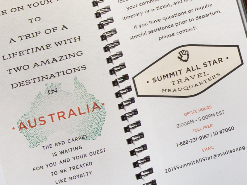 Madison Performance Group | 2014 Australia Summit All Star Program of Events Design