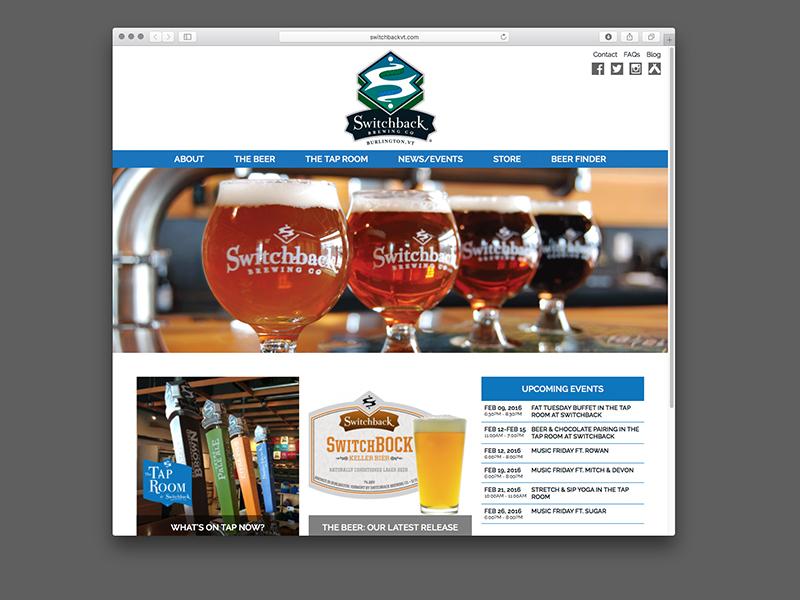 Switchback Brewing Co. Website Design