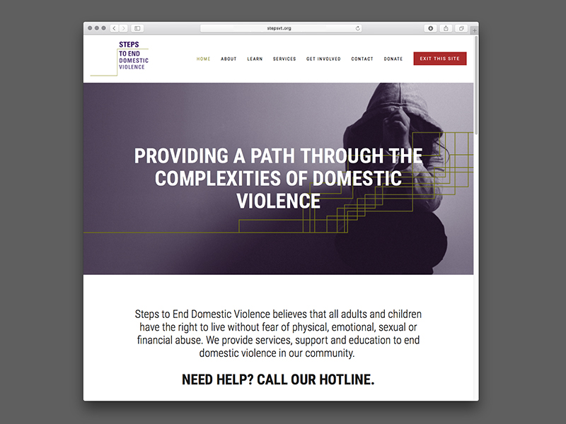 Steps to End Domestic Violence Website Design |  view site
