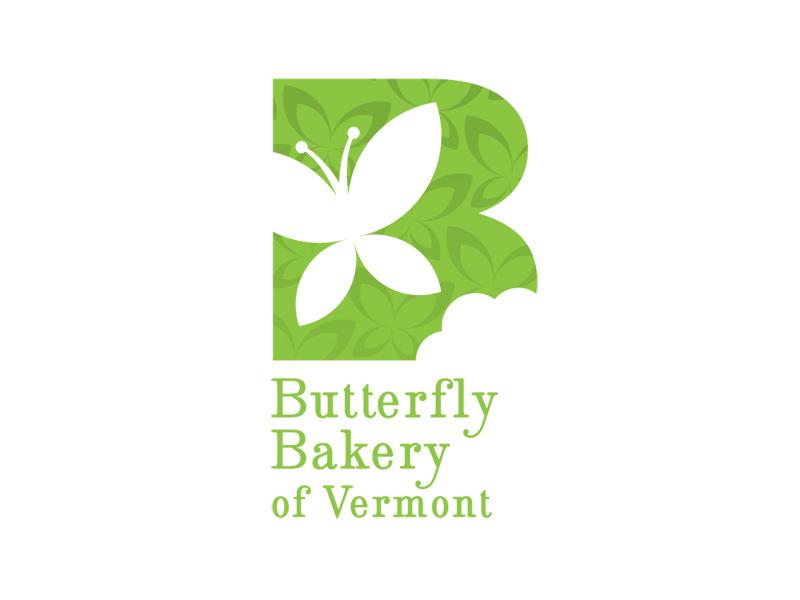 Start-up Company Logo Design for Butterfly Bakery in Montpelier VT by Interrobang Design