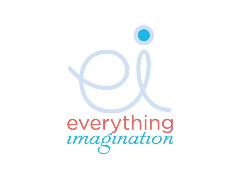 Start-up Company Logo Design for Everything Imagination by Interrobang Design
