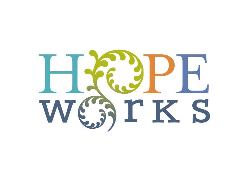 Nonprofit Rebranding Logo Design for HOPE Works by Interrobang Design
