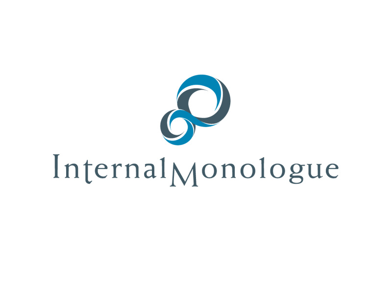 Logo Design for Internal Monologue wedding magalog by Interrobang Design