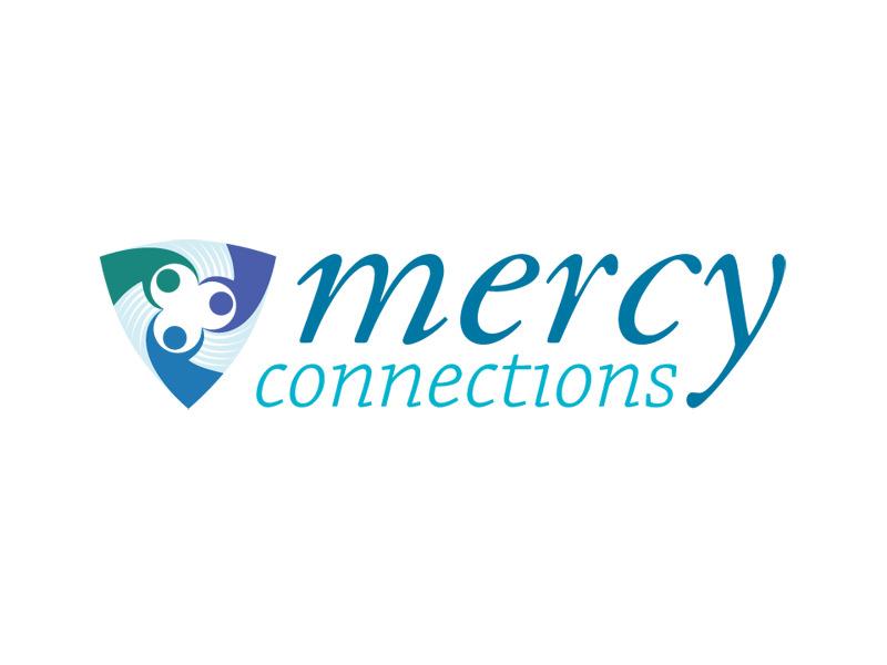 Nonprofit Logo Design for Mercy Connections, Burlington Vermont, by Interrobang Design