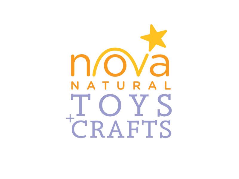 Logo Design for Nova Natural Toys + Crafts by Interrobang Design