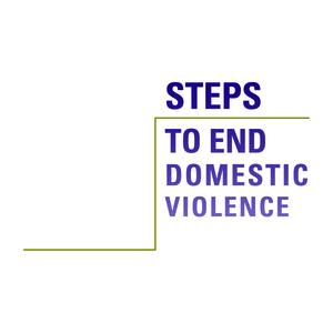 Nonprofit Rebranding Logo Design for Steps to End Domestic Violence, Burlington Vermont, by Interrobang Design