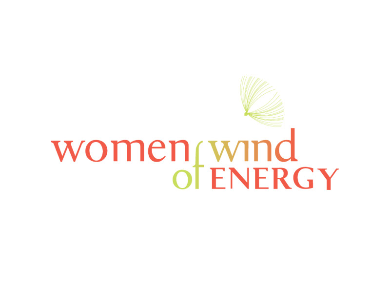 Nonprofit Logo Design for Women of Wind Energy by Interrobang Design