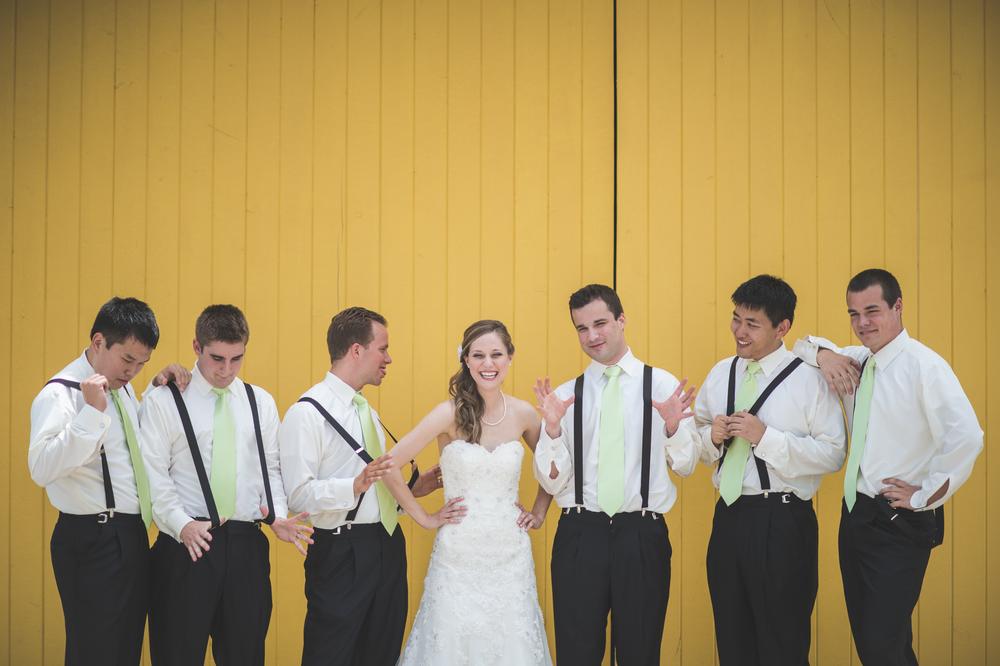 Wedding party at Jorgensen Farms in Ohio