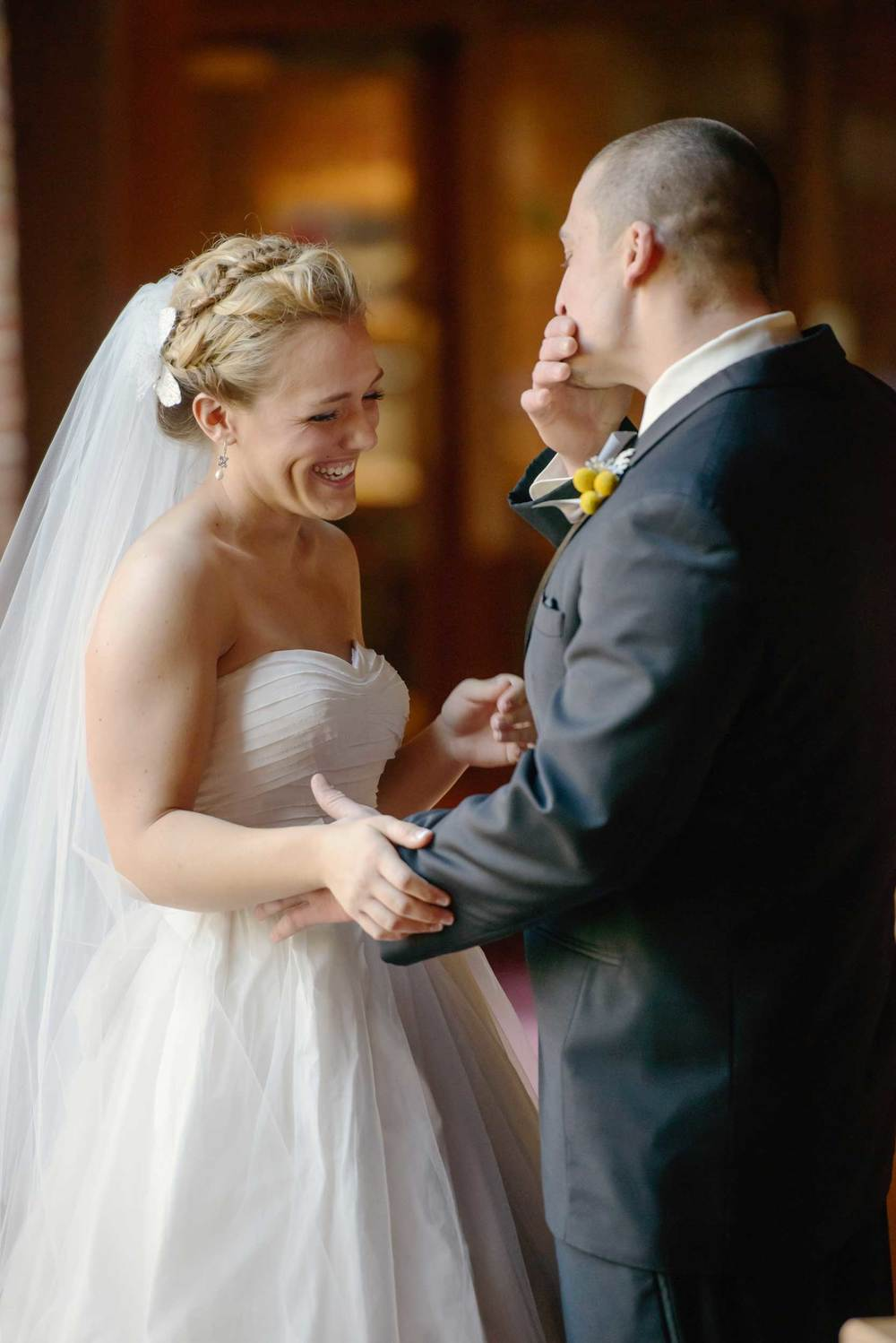 Groom's adorable reaction at The First Look