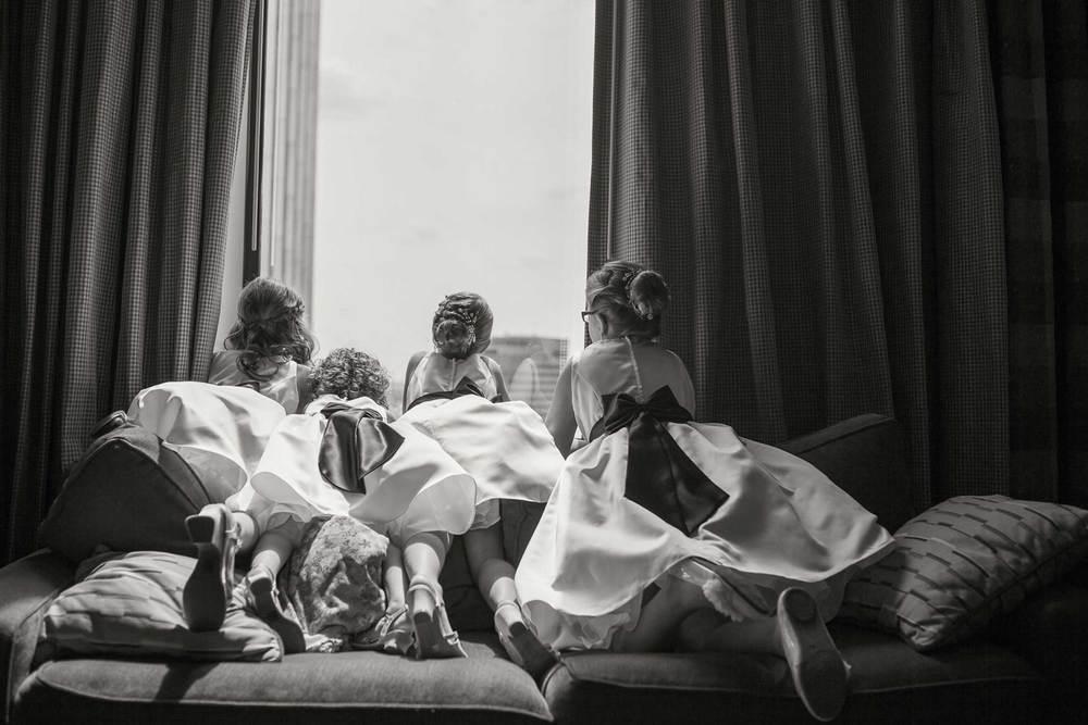 Flower girls wedding portrait