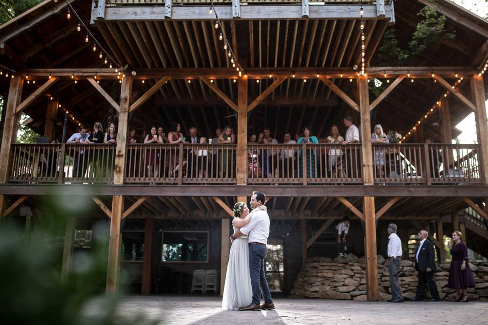 First dance on the patio of the Mohican Grand Barn