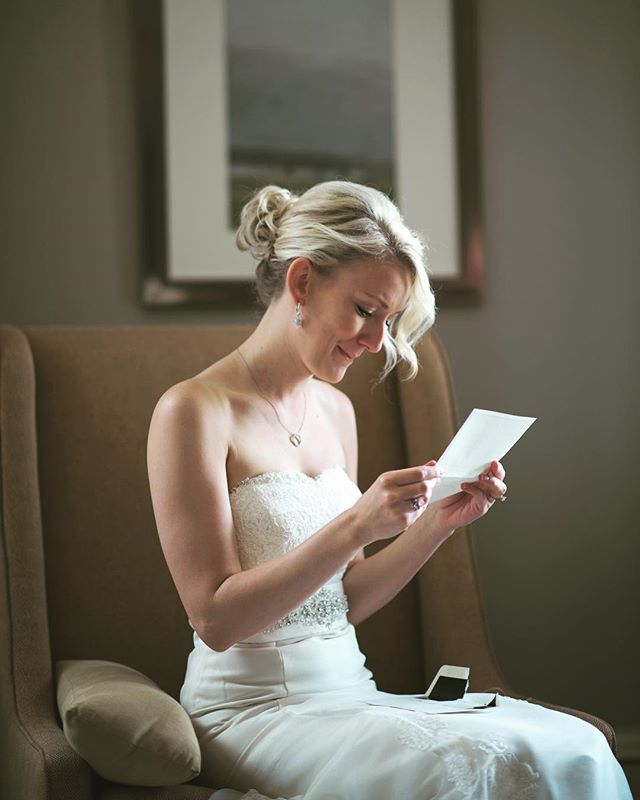 We were just talking to a 2019 who was worried that since they were doing a traditional vow ceremony she would be lacking the emotion found in many of our films. But we told her first: no matter what there is a ton of emotion on a wedding day. And second if she'd like to share her feelings a simple letter before hand can be very emotional and sincere. It's one of our favorite moments on a wedding day. #columbuswedding #weddingvows #happytears #storyandheart #weddingfilm