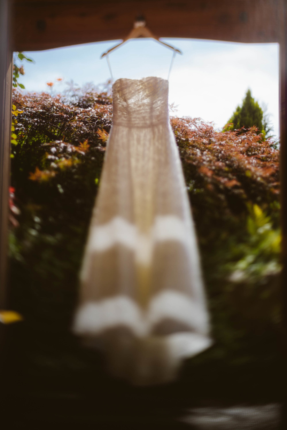 Freelensing the dress.