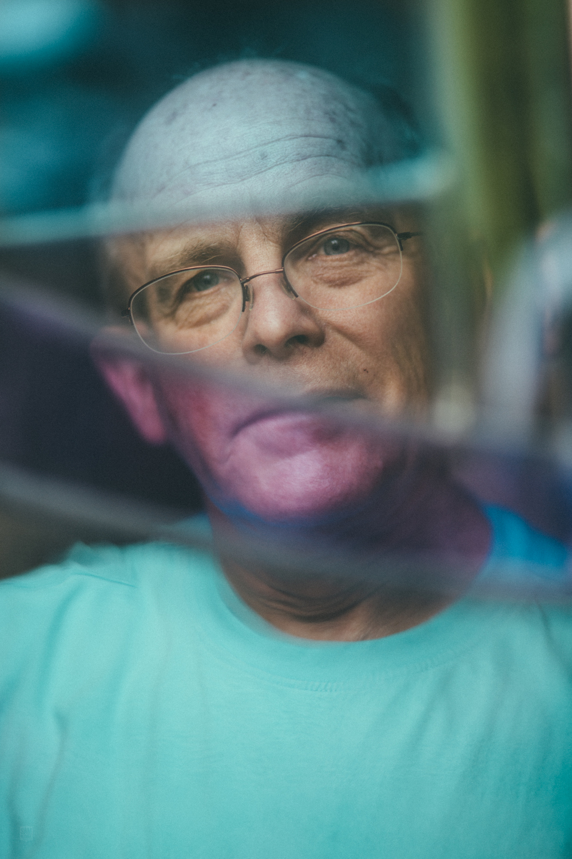 Lifestyle Headshot // Stain Glass Artist