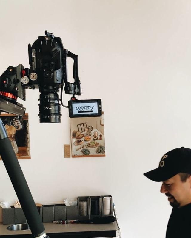 """It's when you """"run out"""" of ideas that the REAL inspiration hits you. @inlandfilmco @indabacoffee @mtchllwllms #coffee #sonyfs7 #filmmaker #cinematography #spokane @filmmkrs @filmschool @kesslercrane @smallhd @sigmaphoto @jmb.designs @mkbhd"""