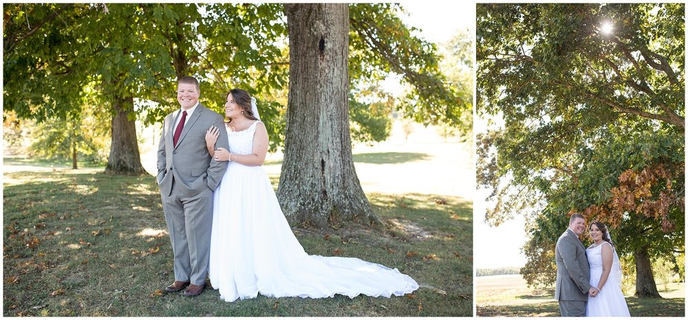 bride and groom fall wedding