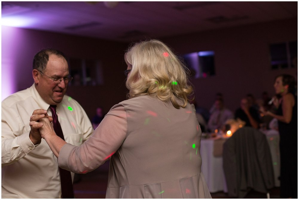 parents of bride dancing