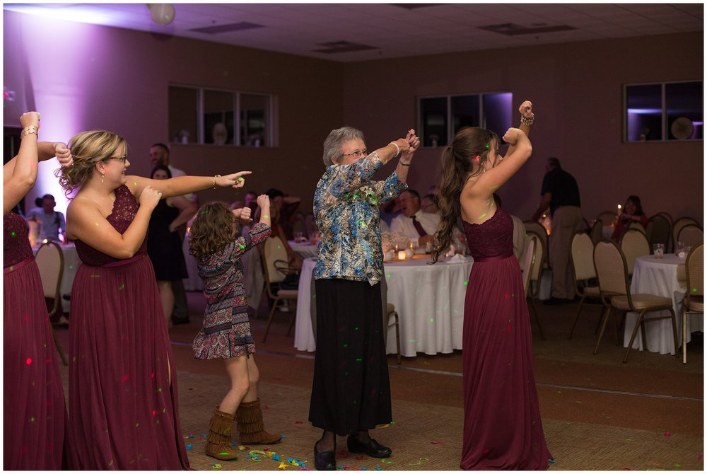 grandmother of bride dancing