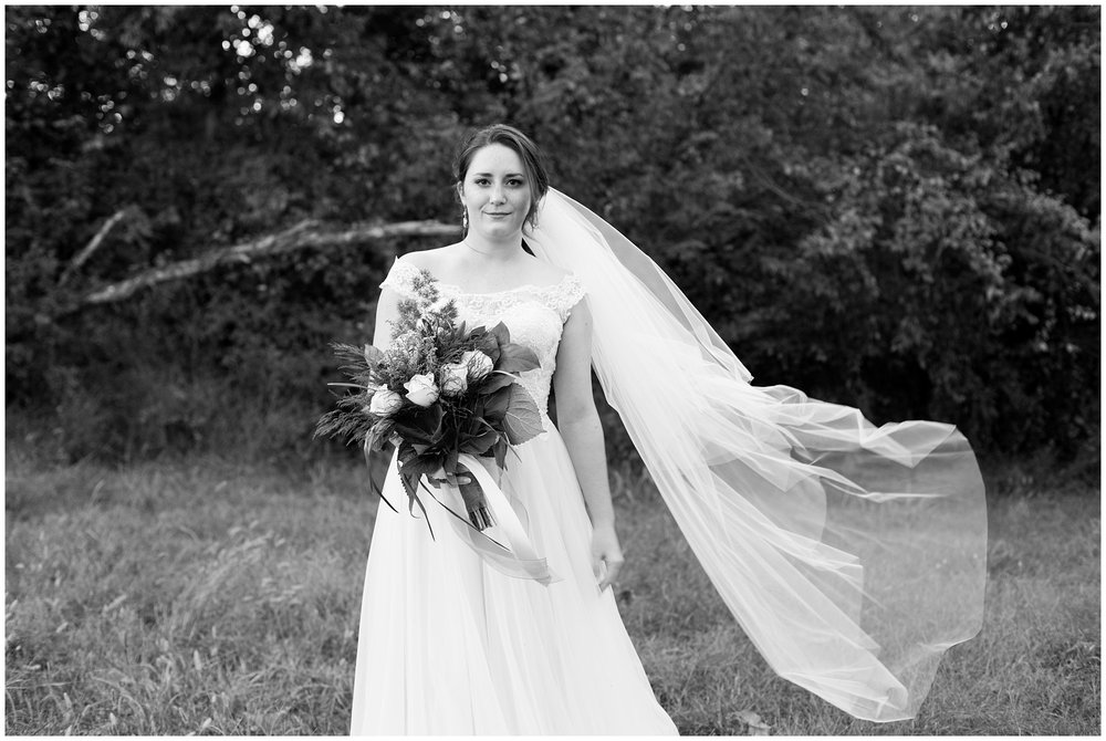 bridal viel in wind