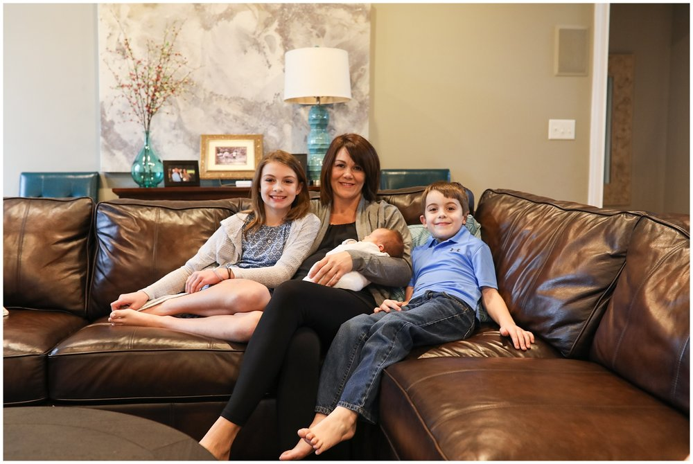 mom with kids on couch