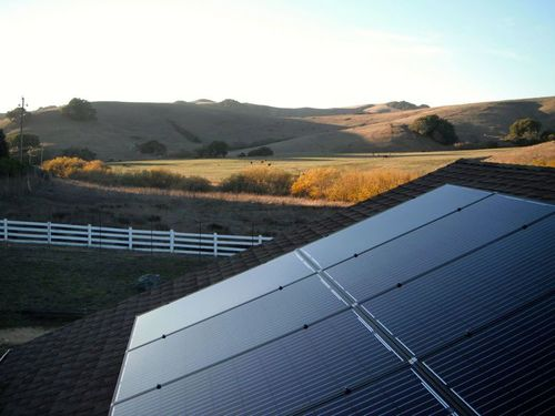 A different approach to solar. One of our recent installations in El Dorado Hills