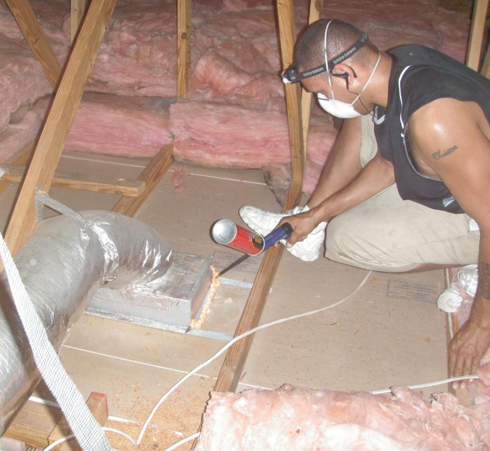 air sealing technician spray foam California Energy Services
